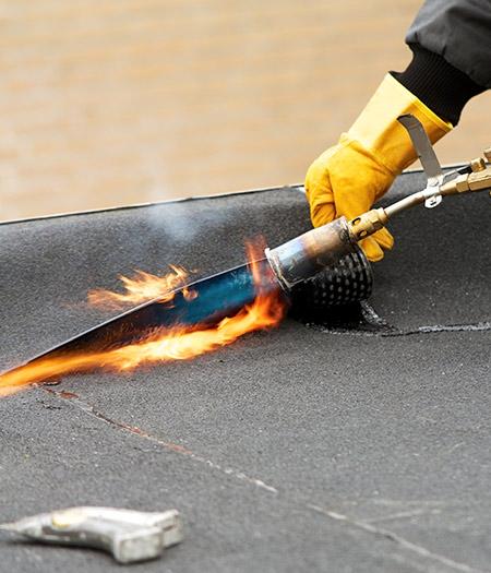 Bitumen dak reparatie