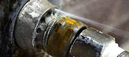 lekkage door waterleiding