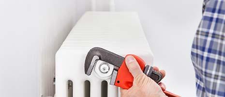 nieuwe radiator plaatsen