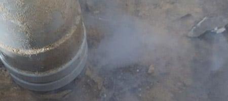 lekdetectie met rookgas