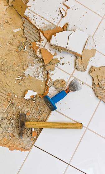 tegels verwijderen badkamer